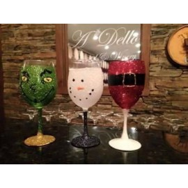 Paint A Wine Glass Class December 12th  at 6:30 pm Holiday Editions