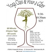 Yoga Class and Pour A Glass