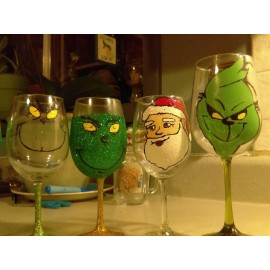 Paint A Wine Glass Class December 14th  at 6:30 pm Holiday Editions